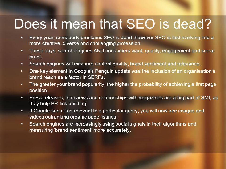 Does it mean that SEO is dead