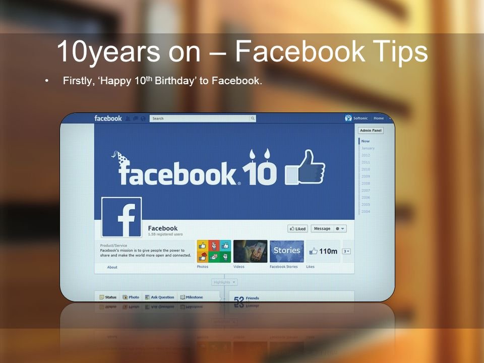 10years on – Facebook Tips