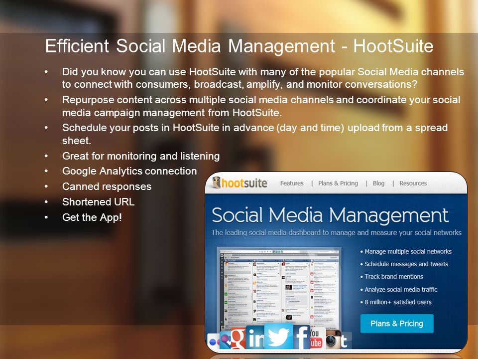 Efficient Social Media Management - HootSuite