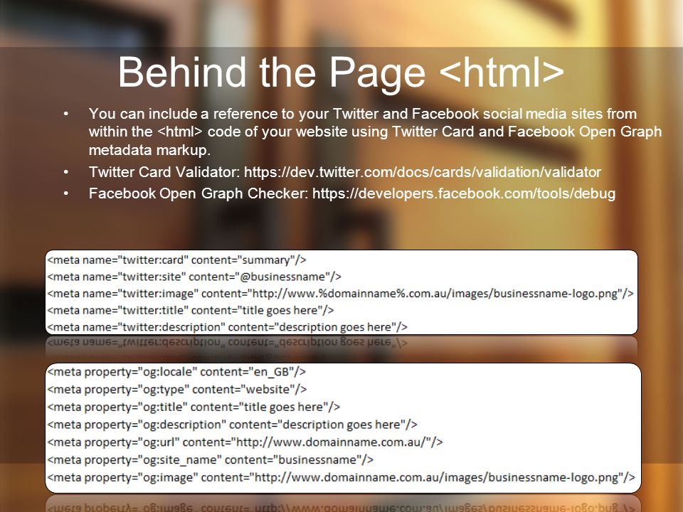 Behind the Page <html>
