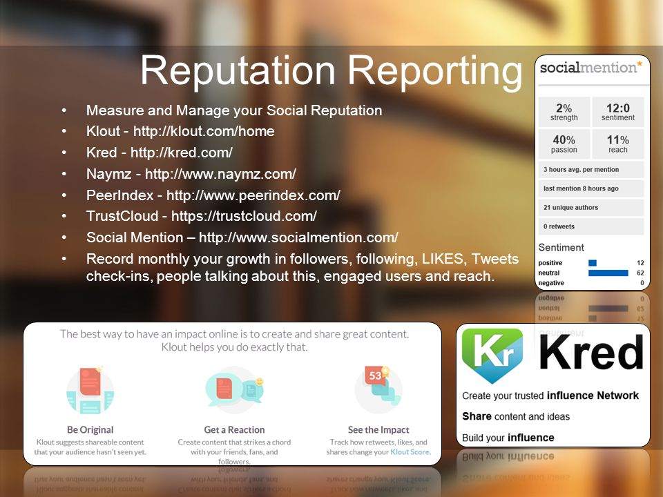 Reputation Reporting Measure and Manage your Social Reputation