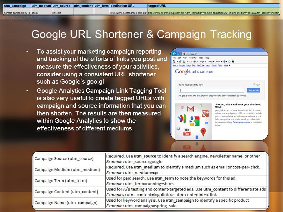 Google URL Shortener & Campaign Tracking