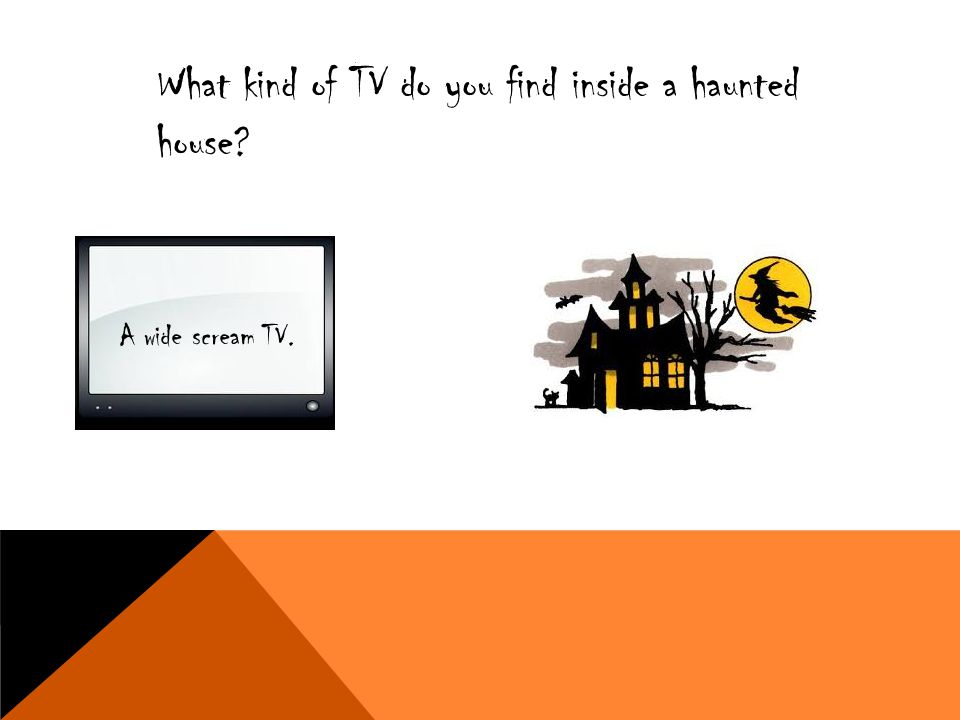 What kind of TV do you find inside a haunted house