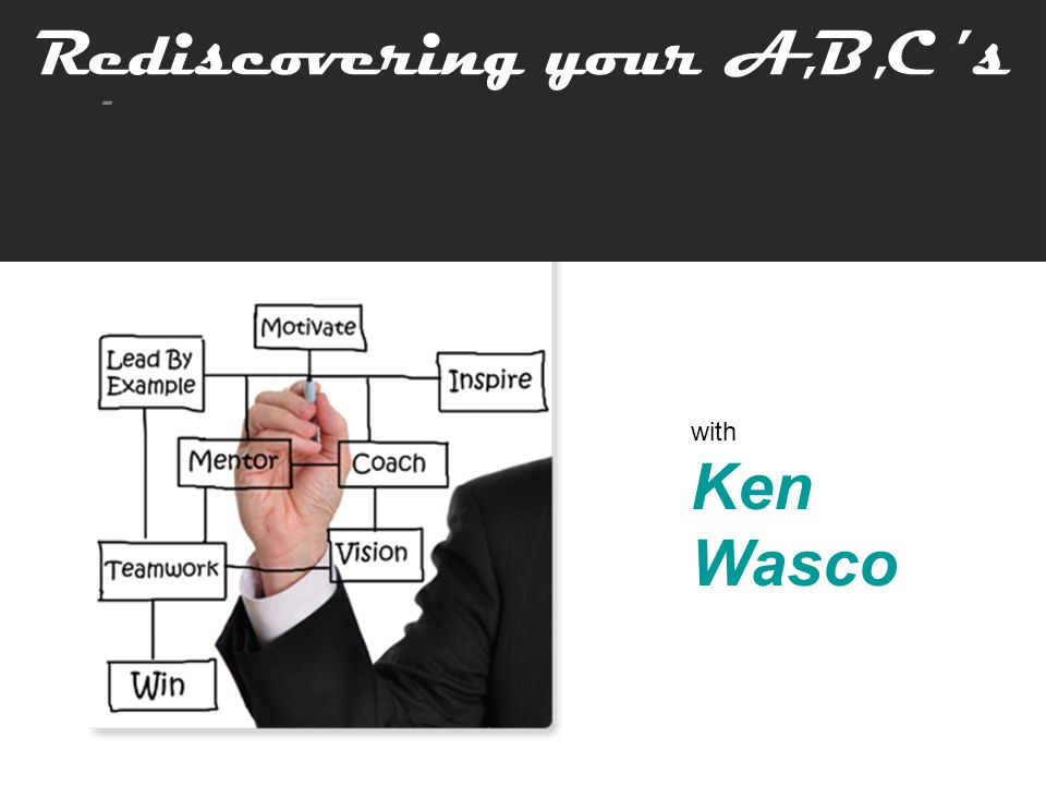 Rediscovering your A,B,C 's How People Can Produce Great Results for You!