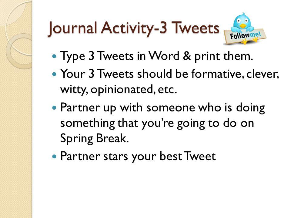 Journal Activity-3 Tweets