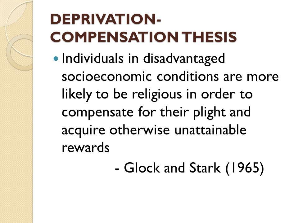 DEPRIVATION-COMPENSATION THESIS