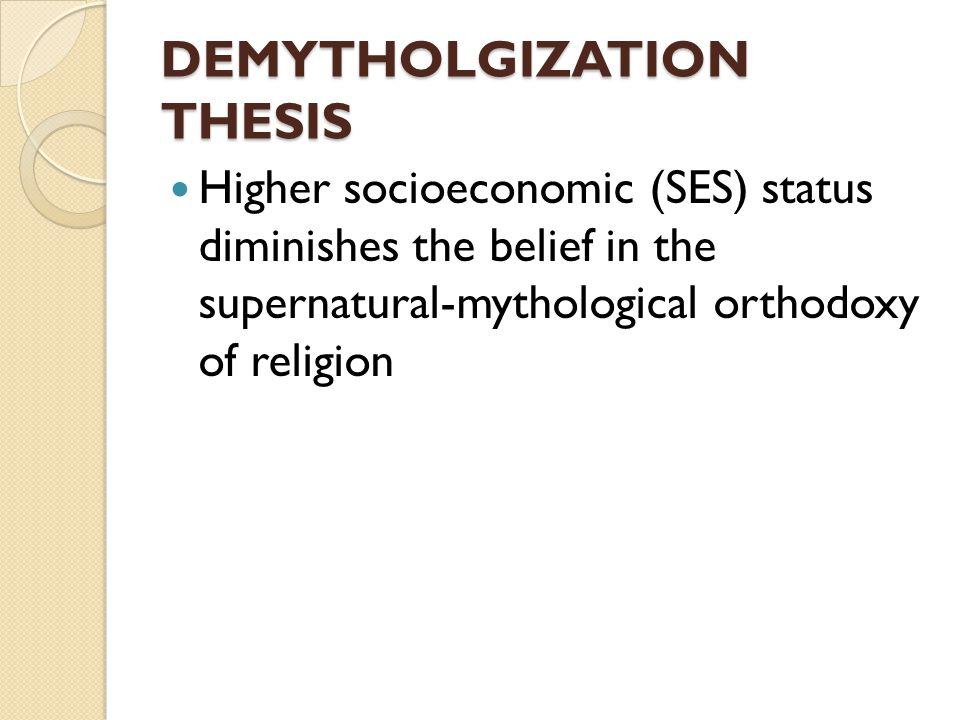 DEMYTHOLGIZATION THESIS