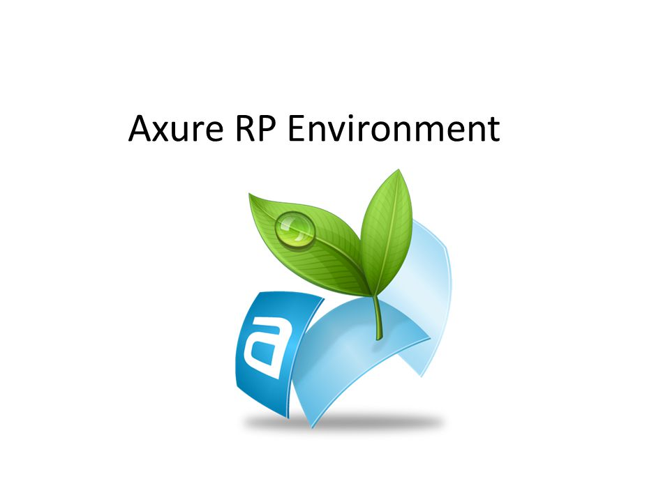 Axure RP Environment
