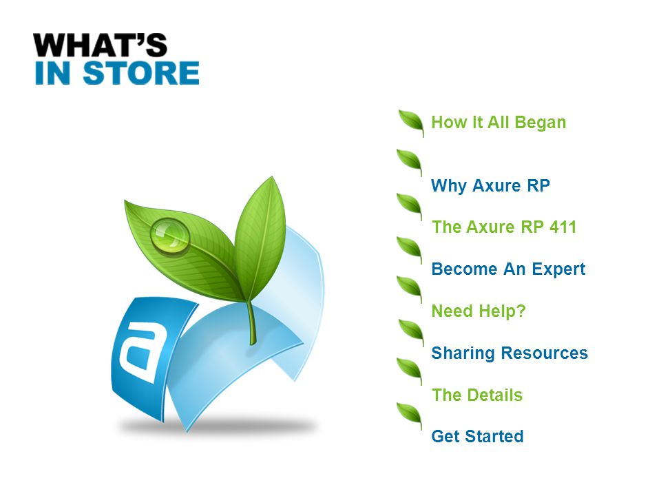 How It All Began Why Axure RP. The Axure RP 411. Become An Expert. Need Help Sharing Resources.