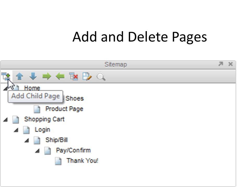 Add and Delete Pages
