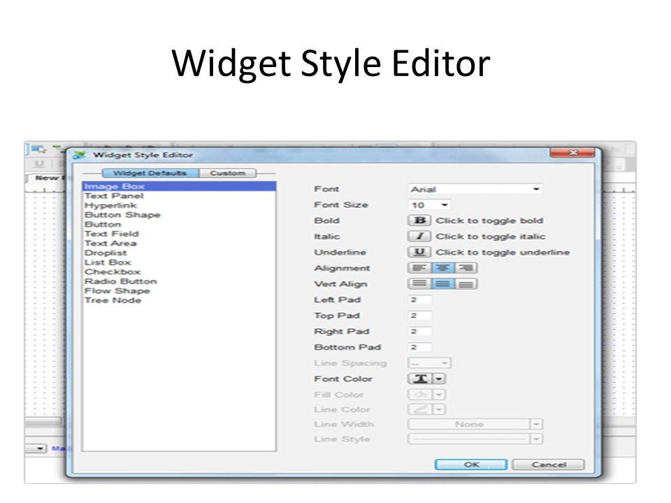 Widget Style Editor