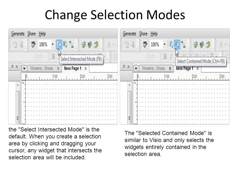 Change Selection Modes