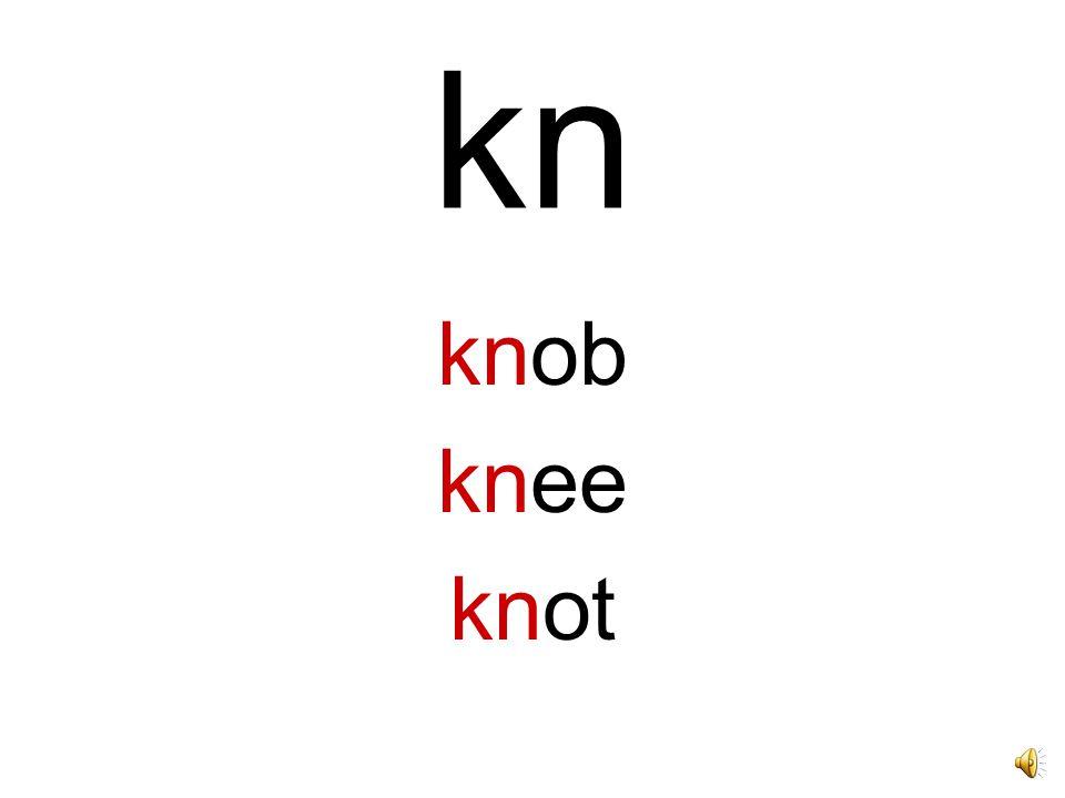 kn knob knee knot