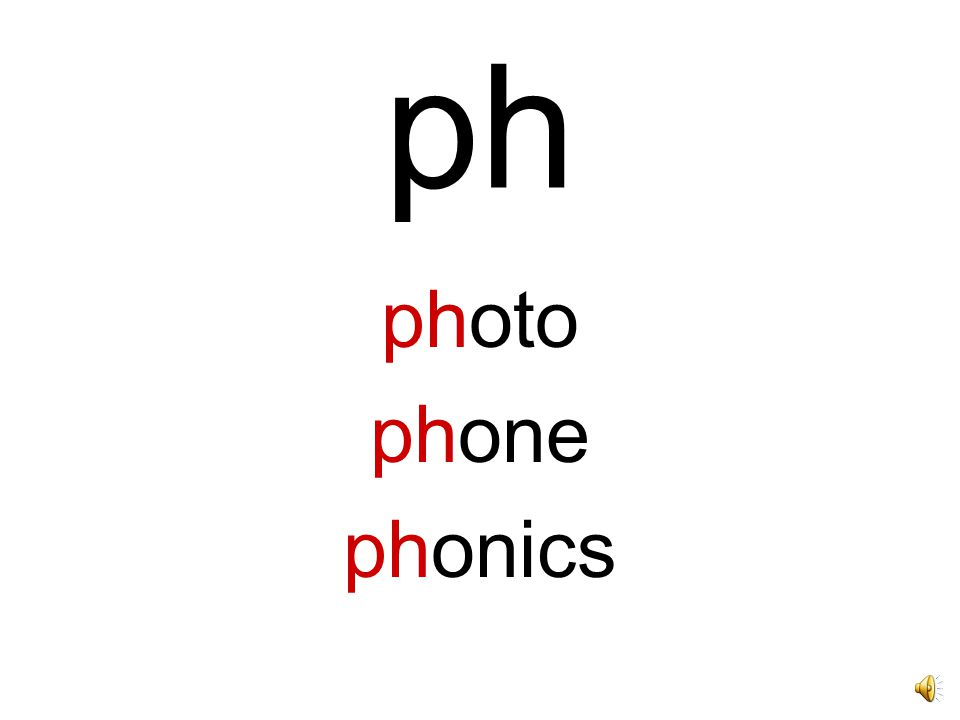 ph photo phone phonics