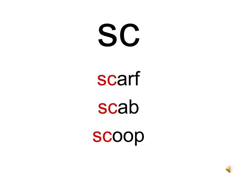 sc scarf scab scoop
