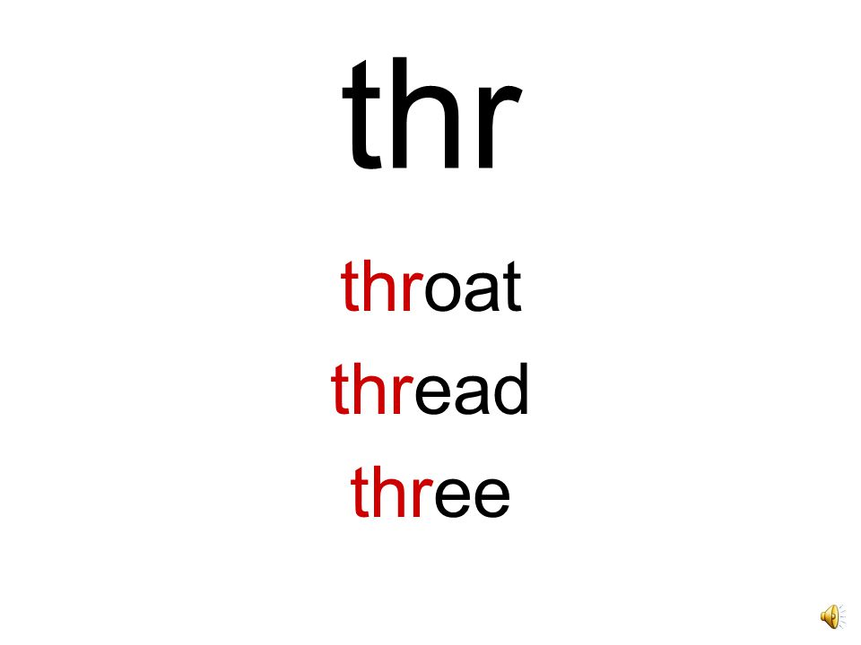 thr throat thread three