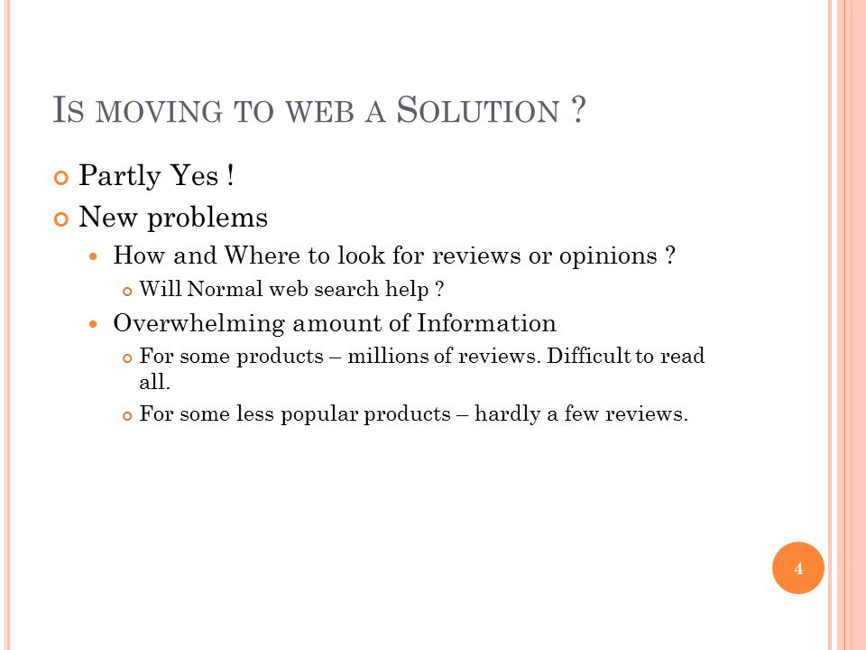 Is moving to web a Solution
