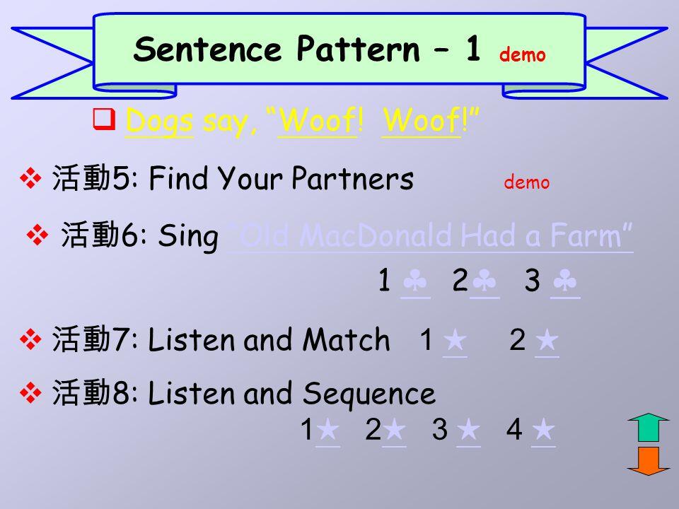 Sentence Pattern – 1 demo