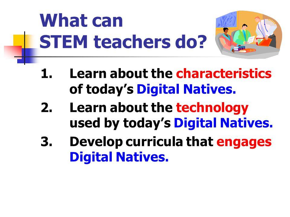 What can STEM teachers do