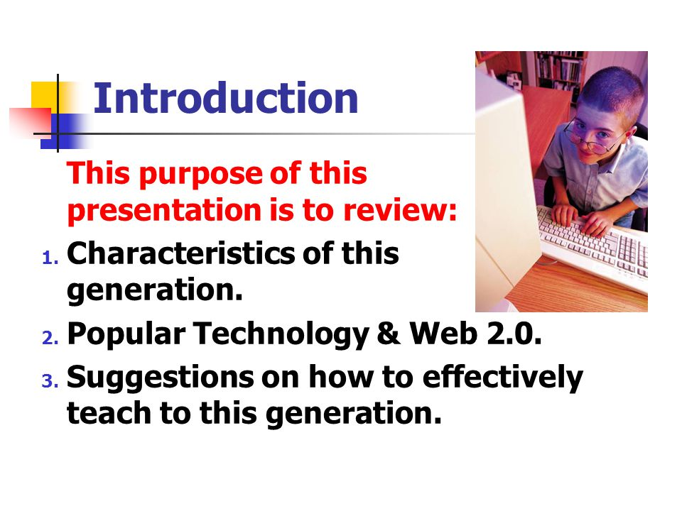 Introduction This purpose of this presentation is to review: