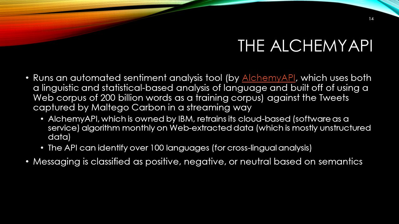The AlchemyAPI
