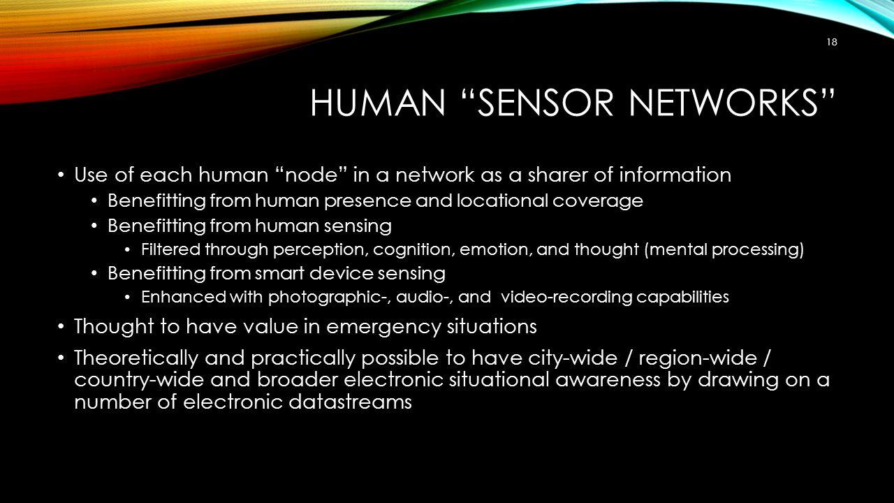 Human Sensor Networks