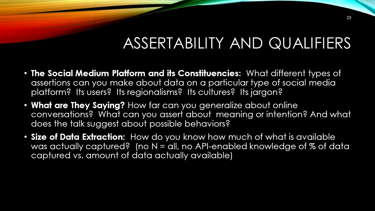 Assertability and Qualifiers