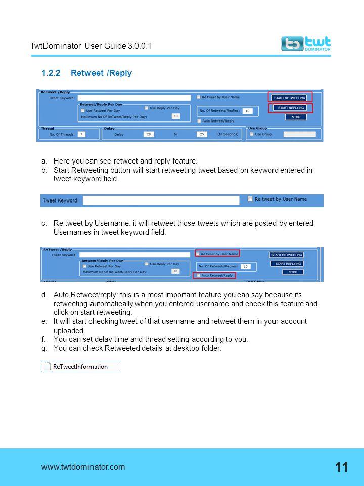 TwtDominator User Guide 3.0.0.1