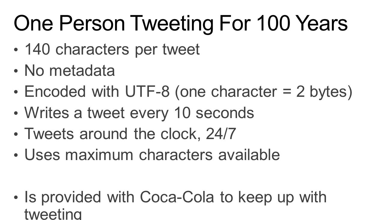 One Person Tweeting For 100 Years