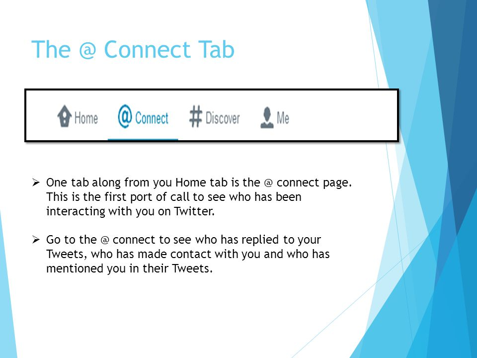 The @ Connect Tab