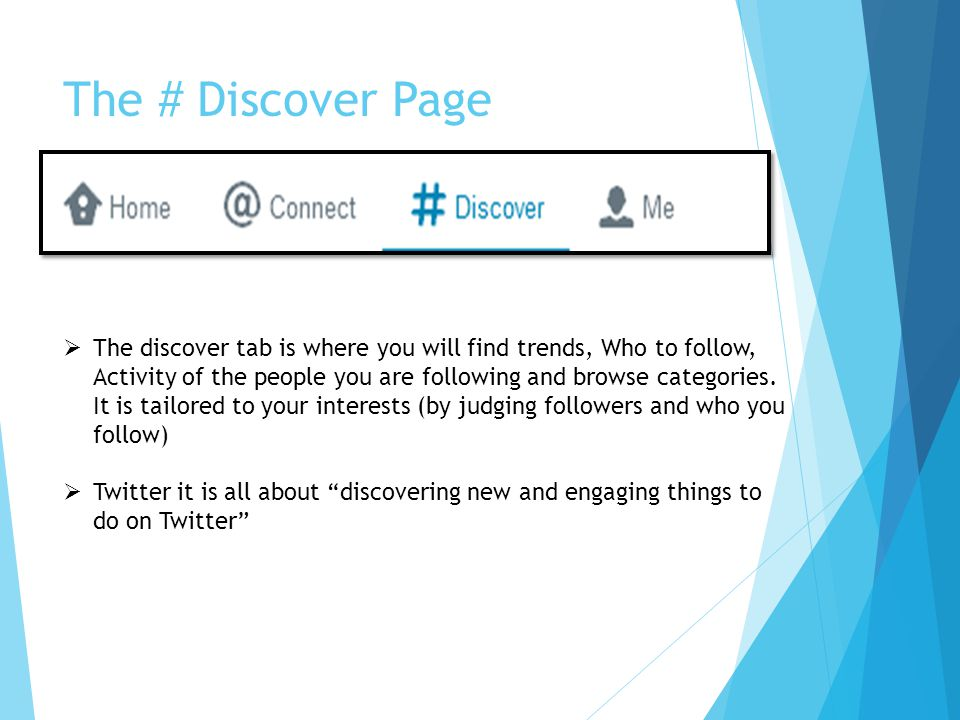 The # Discover Page