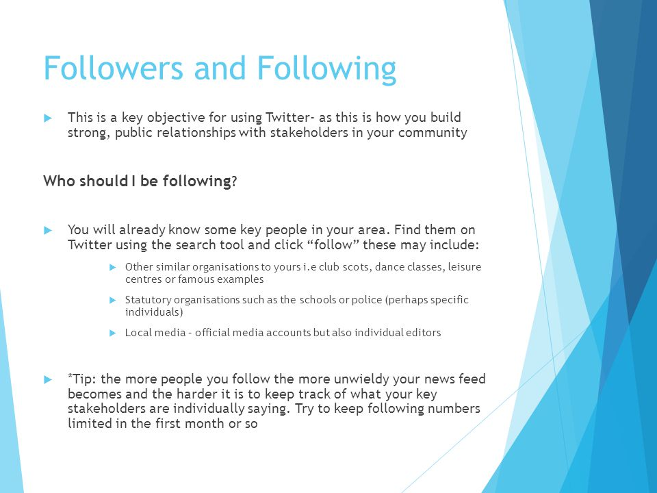 Followers and Following