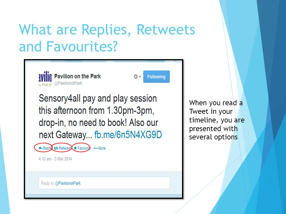 What are Replies, Retweets and Favourites