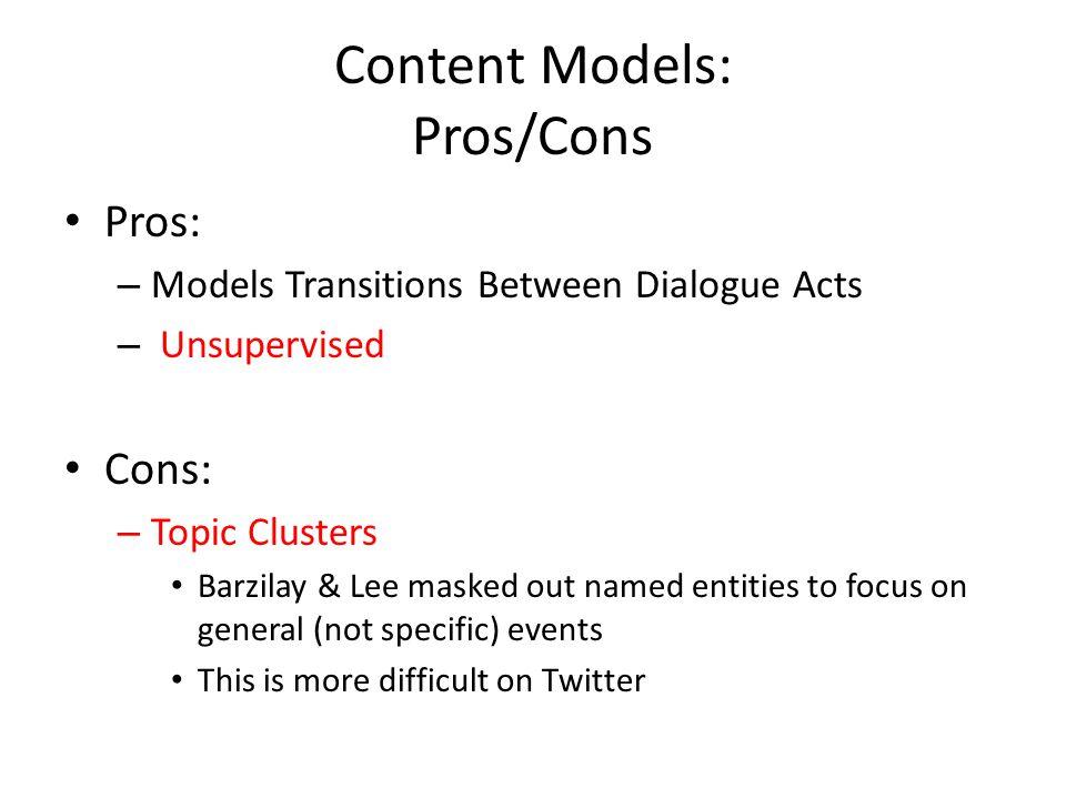 Content Models: Pros/Cons