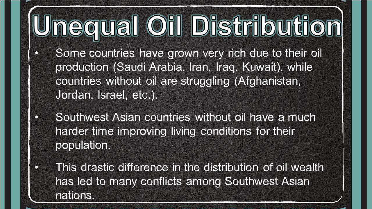 Unequal Oil Distribution