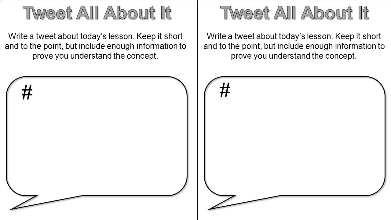 # # Tweet All About It Tweet All About It