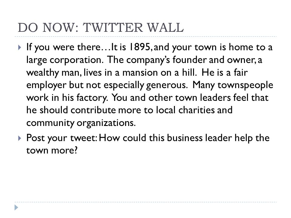 DO NOW: TWITTER WALL