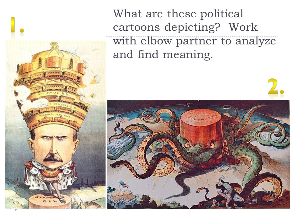 What are these political cartoons depicting