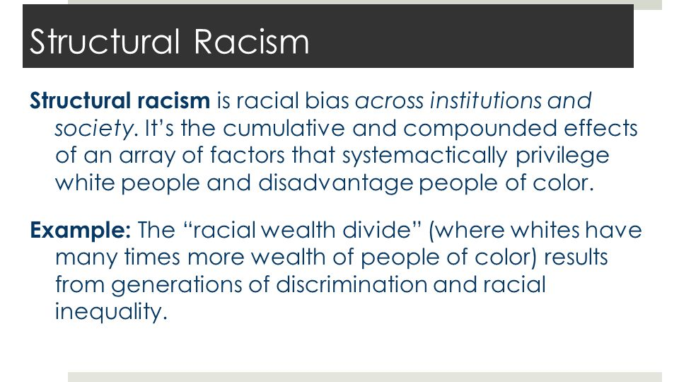 Examples of Structural Racism
