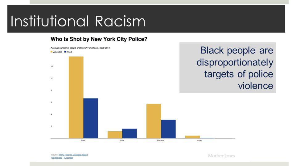 Examples of institutional racism in Ferguson