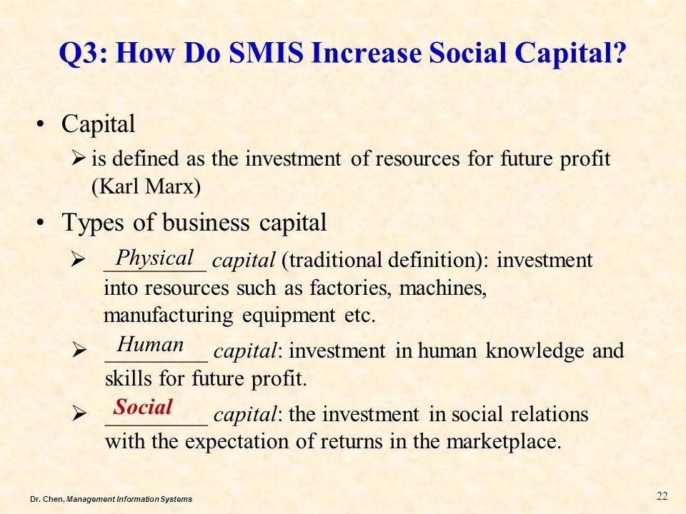 Q3: How Do SMIS Increase Social Capital
