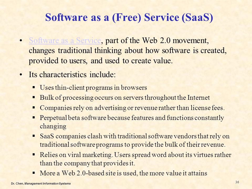Software as a (Free) Service (SaaS)
