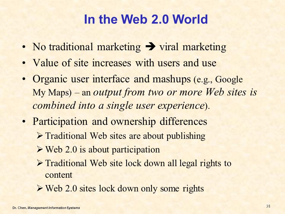 In the Web 2.0 World No traditional marketing  viral marketing