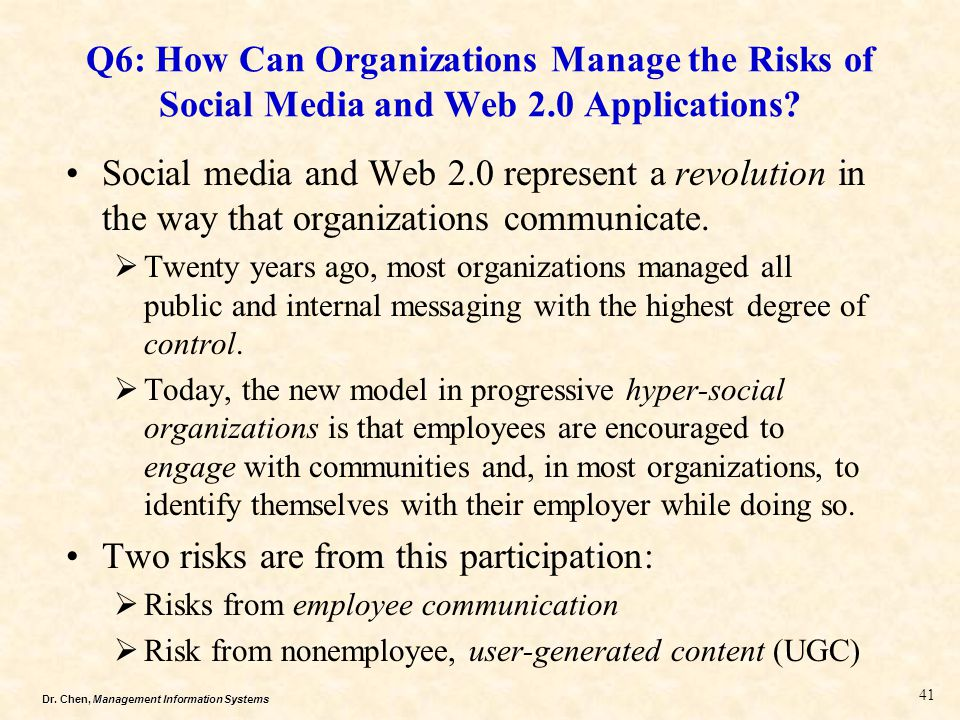 Two risks are from this participation: