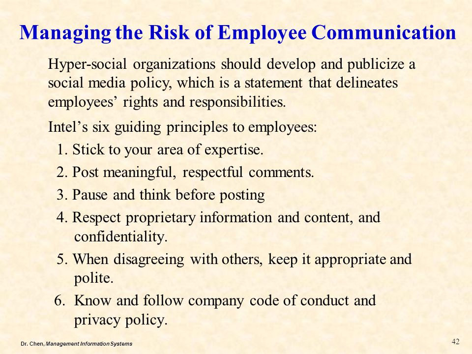 Managing the Risk of Employee Communication