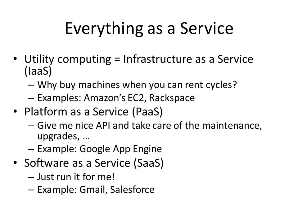 Everything as a Service