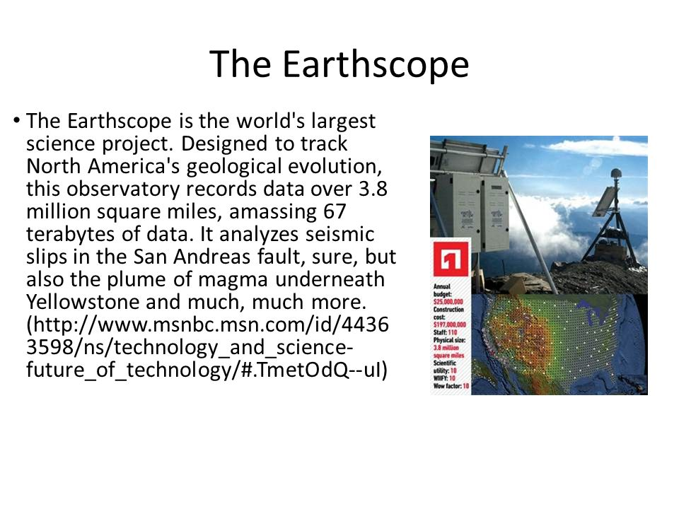 1. The Earthscope.