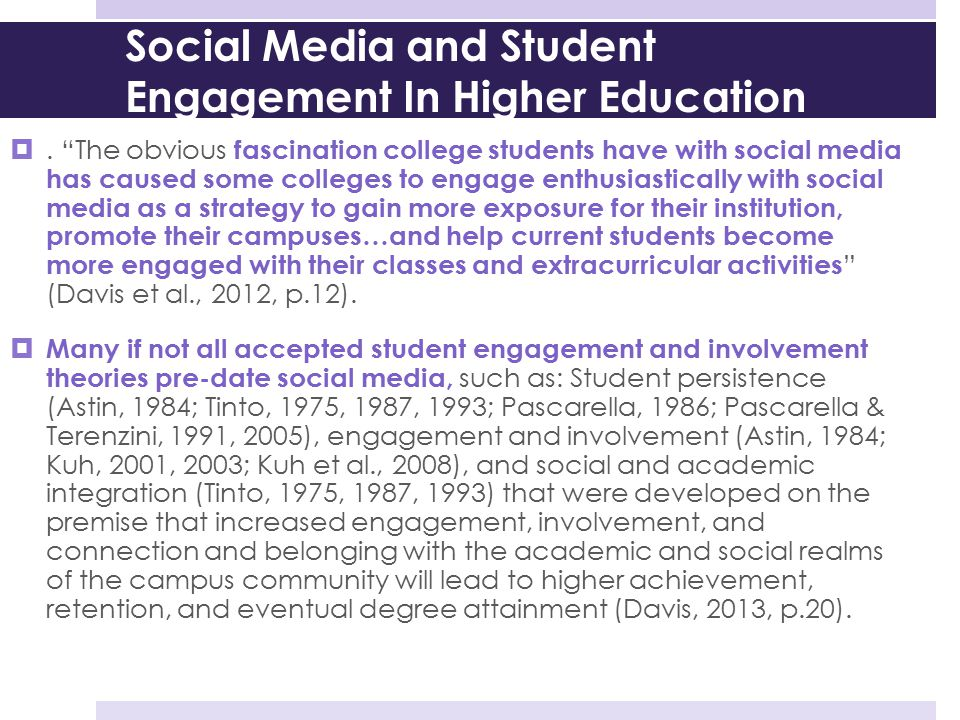Social Media and Student Engagement In Higher Education