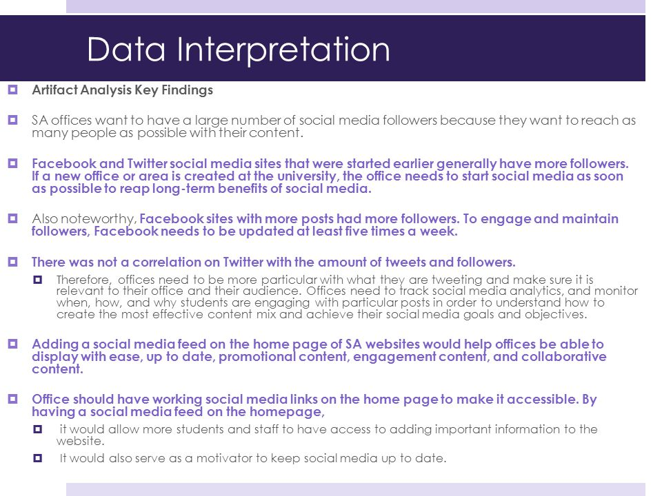 Data Interpretation Artifact Analysis Key Findings