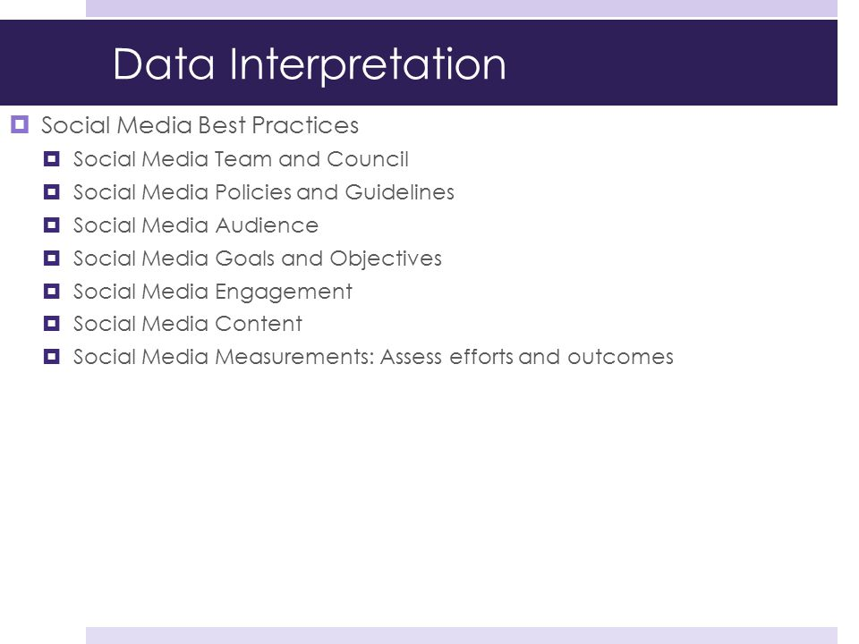 Data Interpretation Social Media Best Practices